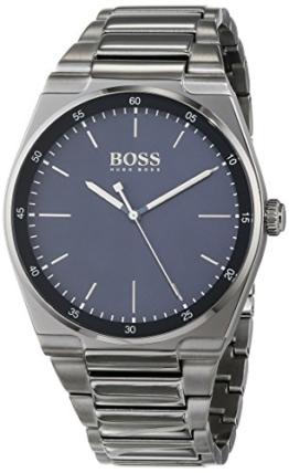 Hugo BOSS Unisex Analog Quarz Uhr mit Edelstahl Armband 1513567 - 1