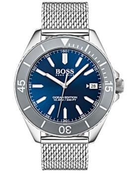 Hugo BOSS Unisex Analog Quarz Uhr mit Edelstahl Armband 1513571 - 1