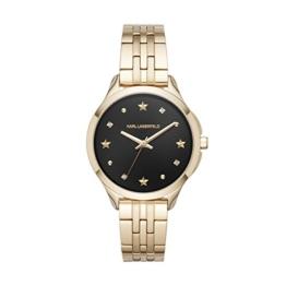 Karl Lagerfeld Damen Analog Quarz Uhr mit Edelstahl Armband KL3010 - 1