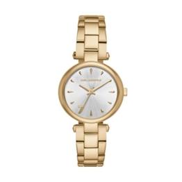Karl Lagerfeld Damen Analog Quarz Uhr mit Edelstahl Armband KL5004 - 1