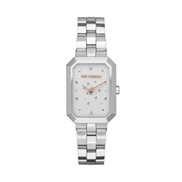 Karl Lagerfeld Damen Analog Quarz Uhr mit Edelstahl Armband KL6105 - 1