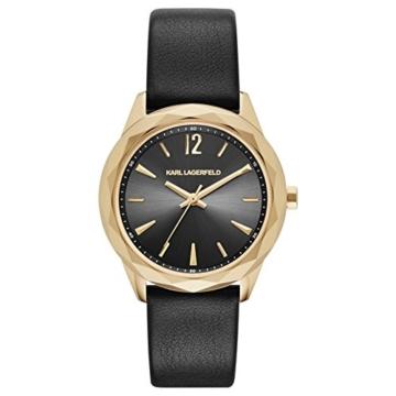 Karl Lagerfeld Damen-Armbanduhr Analog Quarz One Size, schwarz, schwarz - 1