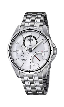 Lotus Herren Analog Quarz Uhr mit Edelstahl Armband 18203/1 - 1