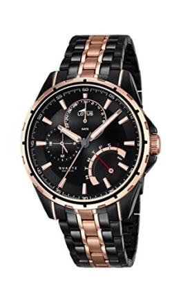 Lotus Herren Analog Quarz Uhr mit Edelstahl beschichtet Armband 18207/1 - 1