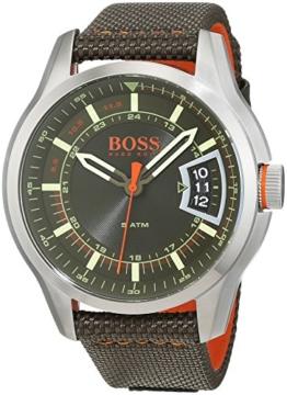Hugo Boss Orange Hong Kong Herren-Armbanduhr Analog mit grünem Textil Armband 1550016 - 1