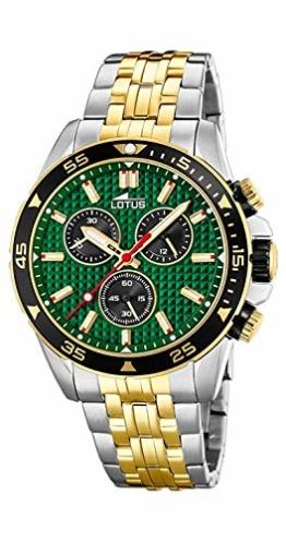Lotus Herren-Armbanduhr 18651/2 Chrono zweifarbig Stahl - 1