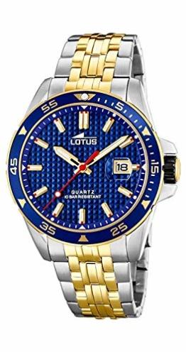 Lotus Herren-Armbanduhr 18652/3 Stahl zweifarbig - 1