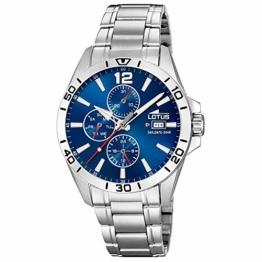 LOTUS Herren Uhr 18666/1 Edelstahl Armbanduhr Multifunktion Silber UL18666/1 - 1