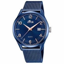 LOTUS Herren Uhr Elegant 18632/1 Edelstahl Armbanduhr Minimalist blau UL18632/1 - 1