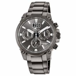 LOTUS Herren Uhr Sport 10140/1 Edelstahl Armbanduhr Khrono schwarz UL10140/1 - 1