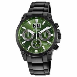 LOTUS Herren Uhr Sport 10141/1 Edelstahl Armbanduhr Khrono schwarz UL10141/1 - 1