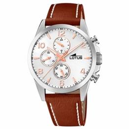 LOTUS Herren Uhr Sport 18630/1 Leder Armbanduhr Quarz Khrono braun UL18630/1 - 1