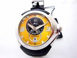 Lotus Uhr 15325/4 mit Kalender, Nadel und fluoreszierendem Indizes und schwarzem Armband aus Kautschuk - 1