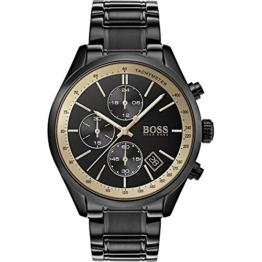 Hugo Boss Grand Prix Herren-Armbanduhr schwarz 44mm schwarz IP Edelstahl 1513578 - 1