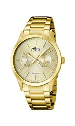 Lotus Herren Analog Quarz Uhr mit Edelstahl Armband 15955/2 - 1