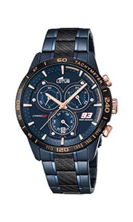 Lotus Herren Analog Uhr mit Edelstahl beschichtet Armband 18330/1 - 1