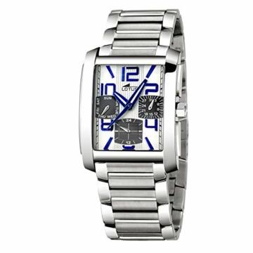 Lotus Uhr 15392/1 rechteckige Uhr mit Gehäuse und Stahlkette - 1