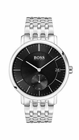 Hugo Boss Herren Analog Quarz Uhr mit Edelstahl Armband 1513641 - 1