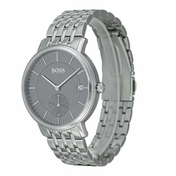 Hugo Boss Herren Analog Quarz Uhr mit Edelstahl Armband 1513641 - 2