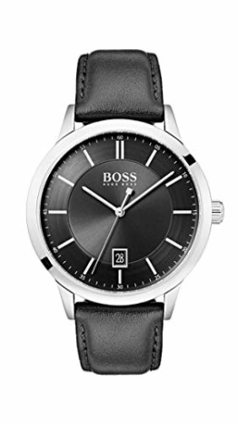 Hugo Boss Herren Analog Quarz Uhr mit Leder Armband 1513611 - 1