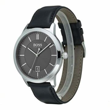 Hugo Boss Herren Analog Quarz Uhr mit Leder Armband 1513611 - 2