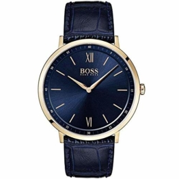 Hugo Boss Herren Analog Quarz Uhr mit Leder Armband 1513648 - 1
