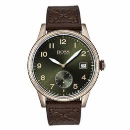 Hugo Boss Herren Analog Quarz Uhr mit Leder Armband 1513669 - 1