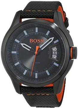 Hugo Boss Orange Hong Kong Herren-Armbanduhr Quartz Analog mit schwarzem Gewebe-Armband 1550003 - 1