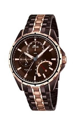 Lotus Herren Analog Quarz Uhr mit Edelstahl beschichtet Armband 18206/1 - 1