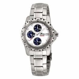 Uhr Lotus Multifunktion Armband Stahl Zifferblatt weiß und blau - 1