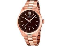 Lotus Herren Analog Quarz Uhr mit Edelstahl Armband 18148/2 - 1