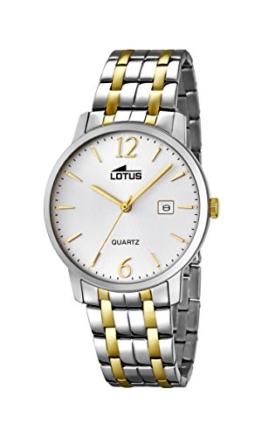 Lotus Herren Analog Quarz Uhr mit Edelstahl beschichtet Armband 18176/1 - 1