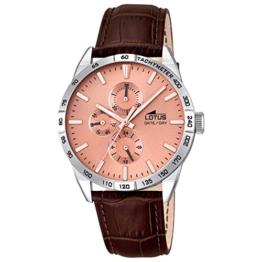 Lotus Herren Analog Quarz Uhr mit Leder Armband 18219/2 - 1
