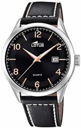 Lotus Herren Analog Quarz Uhr mit Leder Armband 18634/4 - 1