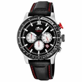 LOTUS Herren Uhr Sport 18587/1 Leder Armbanduhr Lotus R schwarz UL18587/1 - 1