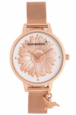 Blumenkind Damen-Armbanduhr Houston mit Mesh-Armband 04091981RWHSSRO - 1