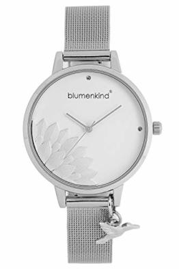 Blumenkind Damen-Armbanduhr Pennsylvania mit Mesh-Armband Silber 13121989SWHSS - 1