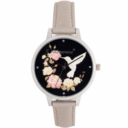 Blumenkind Damen-Armbanduhr Woodstock Silberfarben/Hellgrau 15081969SBKPGR - 1