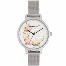 Blumenkind Damen Quarz Armbanduhr - Woodstock Kolibri 15081969SWHSS - 1