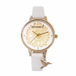 Blumenkind Damenarmbanduhr Gold/Weiß 04091981GWHPWH - 1