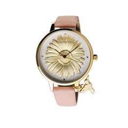 Blumenkind Damenarmbanduhr Goldfarben/Rosa 04091981GWHPRO - 1