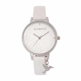 Blumenkind Damenarmbanduhr Pennsylvania Silber/Weiß 13121989SWHPWH - 1