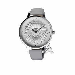 Blumenkind Damenarmbanduhr Silber/Kaschmirgrau 04091981SWHPGR - 1