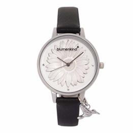 Blumenkind Damenarmbanduhr Silber/Schwarz 04091981SWHPBK - 1