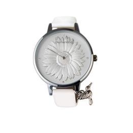 Blumenkind Damenarmbanduhr Silber/Weiß 04091981SWHPWH - 1