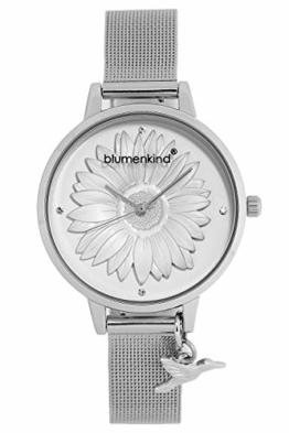 Blumenkind Damenuhr Houston mit Mesh-Armband Silberfarben 04091981SWHSS - 1