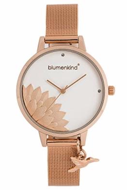 Blumenkind Damenuhr Pennsylvania mit Milanaise-Armband 13121989RWHSSRO - 1