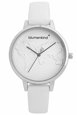 Blumenkind Damenuhr Silber/Weiß 07031985SWHPWH - 1
