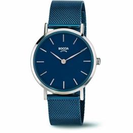 Boccia Damen Analog Quarz Uhr mit Edelstahl Armband 3281-07 - 1