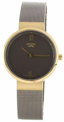 Boccia Damen Analog Quarz Uhr mit Edelstahl Armband 3283-02 - 1